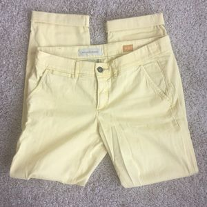 Buttery yellow Anthropologie pilcro hyphen chinos